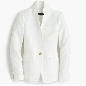 J. Crew Regent Blazer Jacket in White Linen